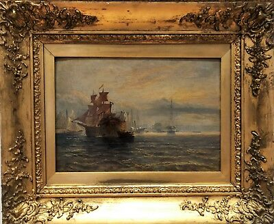 OLD MASTER 19th CENTURY OIL PAINTING By GEORGE CHAMBERS Jnr  GOLD GILT FRAME