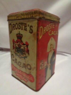 Antique Droste Cocoa Cacao Tin Haarlem Holland