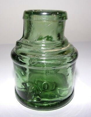 Green Spool Ink - Base Embossed B - Very Crude Machine Made Bottle