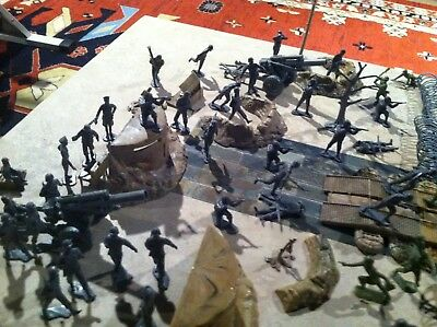 Marx Toy Soldiers, Barbed Wire, Wwii, German Soldiers And American, Accessories