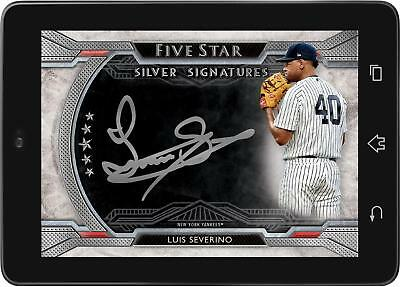 Topps BUNT Luis Severino SILVER SIGNATURE FIVE STAR 2019 [DIGITAL CARD] 50cc