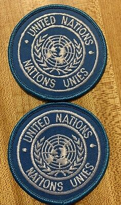 Lot United nations badges patches nations unies  army Hook Embroidery Patches