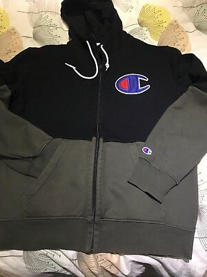 Mens Champion Hooded Tracksuit Top Large