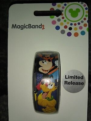 Disney 2019 Mickey Goofy Pluto  Limited Release Magicband Magic Band 2 NEW