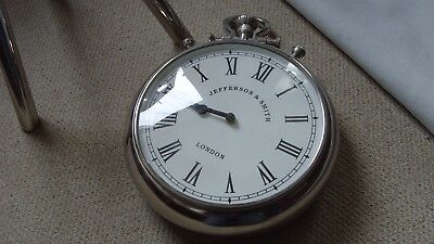 Wall clock, pocket watch style, with stand
