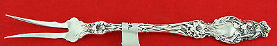 "Whiting LILY Sterling Silver  2-TINE BUTTER-PICK FORK, 6"", No Mono"