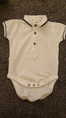 Baby Boy White Polo T-shirt From Next 6-9 Months New