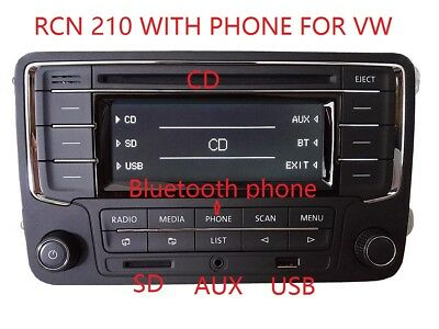 VW car radio RCN210 Bluetooth phone for Golf Jetta Caddy Tiguan Passat Polo Eos