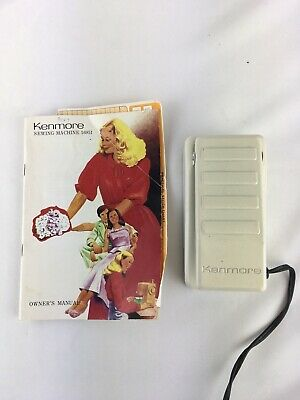 Kenmore 21290 Foot Control Electric Sewing Machine Pedal With Manual Vintage
