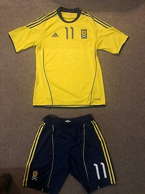 Adidas Scotland Football Kit 2010-2011 Away Kit Shirt Large Shorts Medium