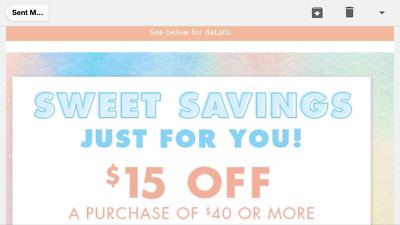 Justice coupon for $15 off $40 online and in-store