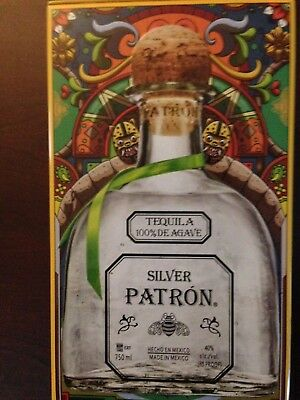 Patron Silver Tequila Special Limited Edition Tin Canister