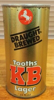 Tooths KB Lager. 13FL.OZ. Straight Steel Beer Can.