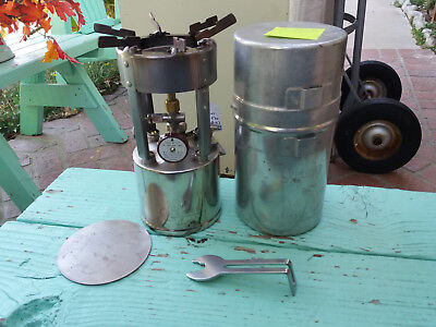 #B Coleman model 530 Pocket stove - rebuilt - working condition Dated A-47 GI