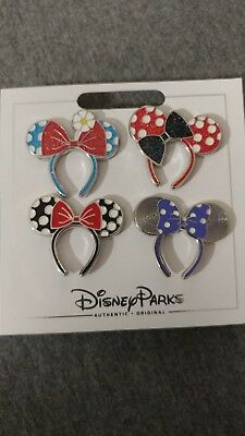 NEW Disney Parks 4 Pin Minnie Ears Headbands 4 pin set