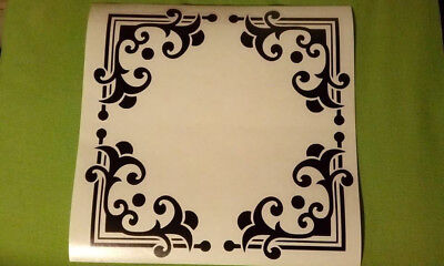4 Decorative Corners For Windows Frames Glass Vinyl Decal Sticker 4