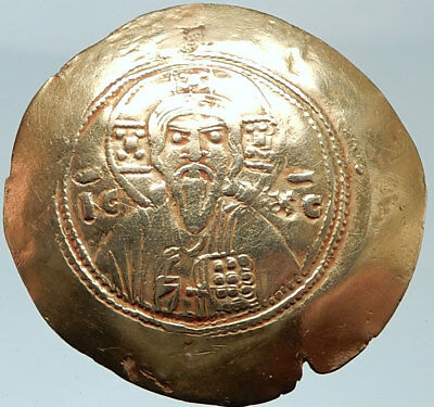 MICHAEL VII Ducas 1071AD ELECTRUM Jesus Christ Portrait Ancient Byzantine Coin