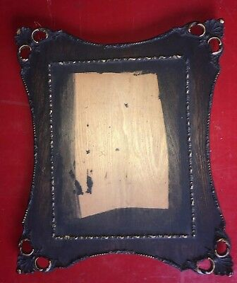 Antique Victorian Unique  Ornate Oak Frame 13 x 11 wood vintage