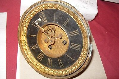 J.  Marti  French Movement Large  Solid Slate  Dial  Repair For Spares
