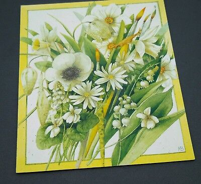Marjolein Bastin Sister Bday 5x6 Greeting Card Nature's Sketchbook Lily of Vally