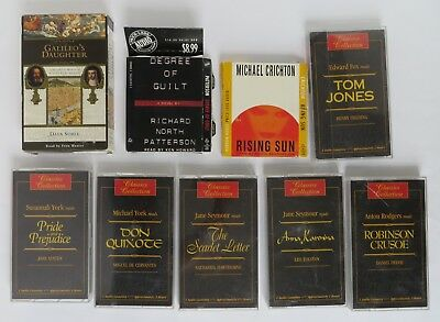 Lot of 9 Audio Books Stories on Cassette Tape Classics Collection