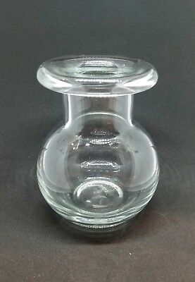 Beautiful Clear Hand Blown Glass Vase