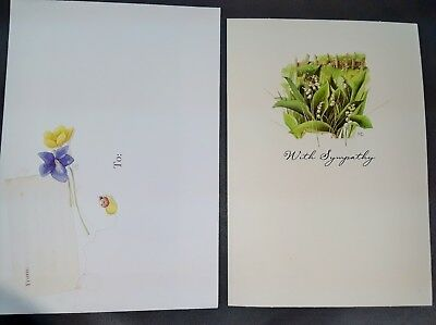 Marjolein Bastin Sympathy Lily of Vally Greeting Card Nature's Sketchbook