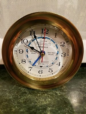 Howard Miller Maritime Tide and Time Solid Brass Clock W/ Stand