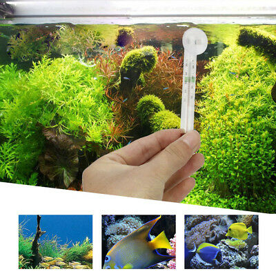 Glass Meter Aquarium Fish Tank Water Temperature Thermometer Suction Cup