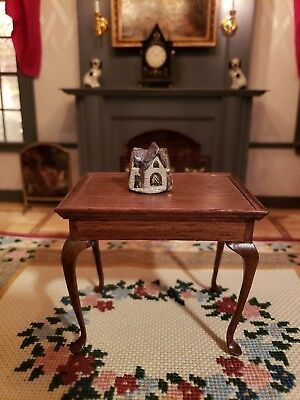 Dollhouse Miniature Artisan Hand Painted And Molded Tiny Cottage