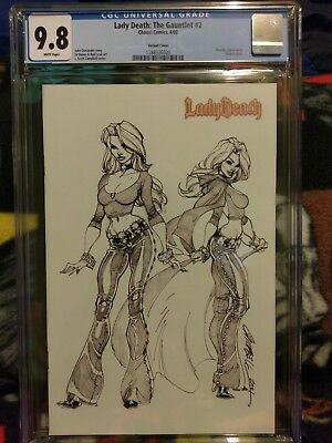 Lady Death : The Guantlet 2 CGC 9.8 Campbell variant