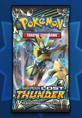 50x Booster Pokemon TCG Online Lost Thunder SM8 Code Card Delivered In Game