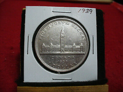 1939  Canada  Silver Dollar 1$  Coin  Nice Grade  39  Auction  .99  Cent  Start