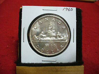 1960  Canada  Silver Dollar 1$  Coin  Nice Grade  60  Auction  .99  Cent  Start