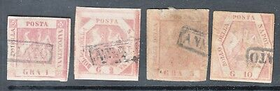Used Italian States Two Sicilies Naples #2-5 Cv$343.50