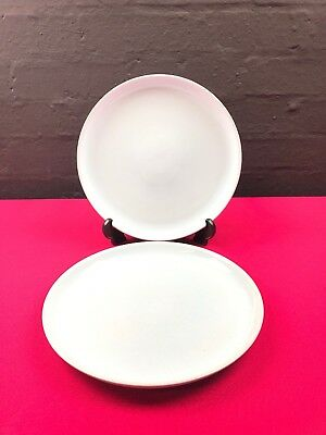 "2 x Denby / Langley Lucerne 10"" Dinner Plates All Blue"