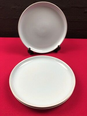 "3 x Denby / Langley Lucerne 10"" Dinner Plates All Blue"