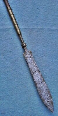 antique 19thc Vietnamese spear Asian sword knife old dagger Tonkin dha dao China