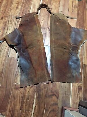 vintage western leather chaps Adult....