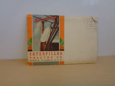 Vintage Caterpillar Tractor Co. Fold Out Postcard-18 Images