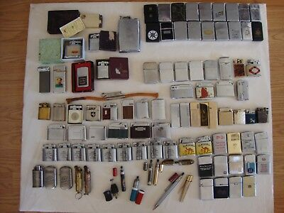 Vintage (99) Cigarette Lighter Lot Zippos, Ronson, Colibri, Gray,Germany,Japan