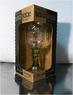 NIB, THE ORIGINAL REDNEK, 16oz. Ball Mason Jar Wine Glass By Carson