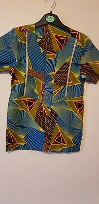 Boys Blue & Yellow Multicoloured African Kaftan/ Nigerian Jumper  7 Years