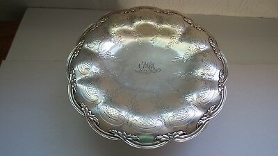 "Tiffany & Co. Sterling Silver 9"" on Pedestal Cake Plate"