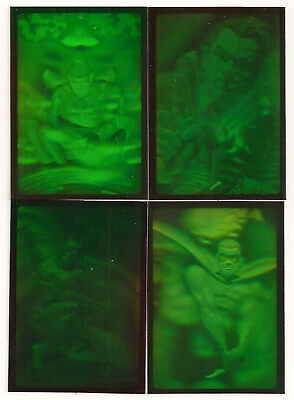Batman Forever Metal Hologram Set ( 4 cards)  1995 Fleer   NICE!!!!