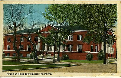 First Methodist Church, Hope, Arkansas - postmarked in 1934