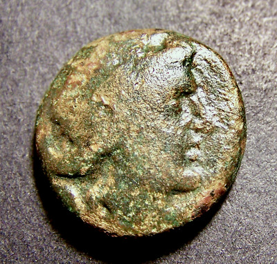 Greek Coin, Athena Raises Shield & Spear w/ Mythical Apollo, 2nd Cent. BC