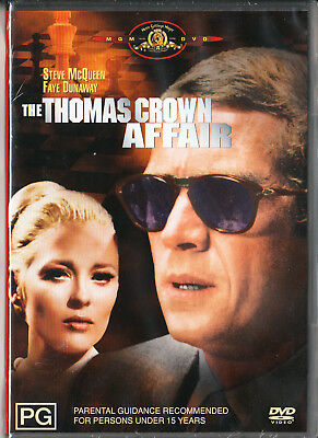 The Thomas Crown Affair Dvd=Steve Mcqueen=Region 4 Aust Release=New And Sealed