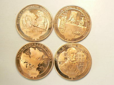 1642 1663 1840 1859 Historic Copper Medals 39mm Lot of 4 #2562