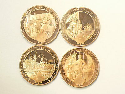 1497 1659 1831 1842 Historic Copper Medals 39mm Lot of 4 #2563
